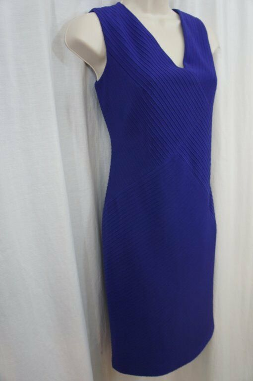 Anne Klein Dress Sz 4 Ultra Violet Purple Sleeveless Business Cocktail Party image 5