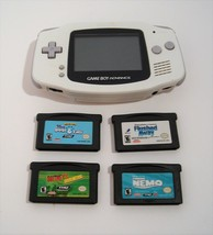 Nintendo Game Boy Advance White Handheld Console with Games - $49.95