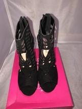 Womens Shoedazzle  Black Dress Sandals Size 9 - $44.55