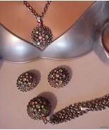 Vtg EMPRESS JEWELS PARURE Bracelet Necklace Ear... - $43.95