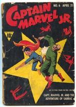 Captain Marvel Jr #6 1943- Raboy Devils cover- Golden Age low grade - $145.02
