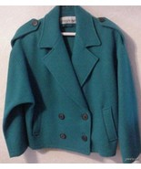 Vintage Aqua Wool 1970's Cuddle Coat New York N... - $39.95