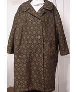 "Womens Plus size Vintage Coat 52"" full length B... - $49.95"