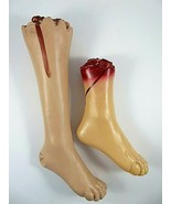 Bloody Severed Right Leg & Foot Body Parts Plastic Halloween Horror Stag... - $21.31