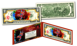 YEAR of the DRAGON - Chinese Zodiac Official $2 U.S. Bill RED POLYCHROME... - $13.06