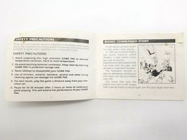 Bionic Commando Instruction Manual NES Nintendo Entertainment System image 3