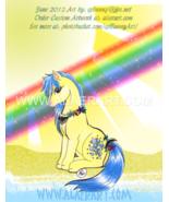 My Little Pony Bubbles 1st Gen Faux Gems Necklace Original + Print Fan A... - $13.99
