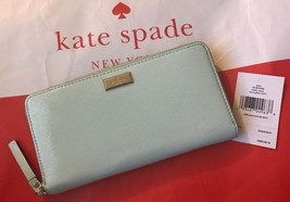 Kate Spade Bixby Place Neda Patent Leather Zip Around Wallet, Mint Splas... - $89.54 CAD