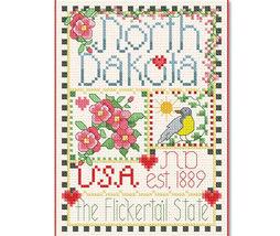 North Dakota Little State Sampler cross stitch chart Alma Lynne Originals - $6.50