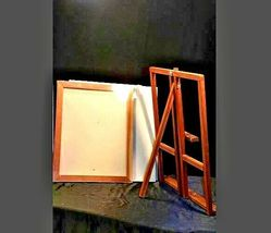 Vintage Wooden Desk Easel with 4 new canvasAA19-1432 image 3
