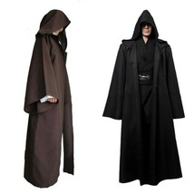 Jedi Cloak Adult Hooded Robe Cloak Cape Halloween Costume Star Wars Jedi... - $21.99+