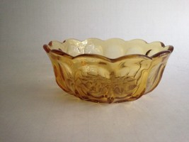 "Vintage Gold Glass Small Candy Bowl Open Dish 4.5"" Round 2.5"" Tall - $10.73"