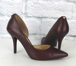 Michael kors womens shoes high heel classic leather wine size 6.5 M - $20.99