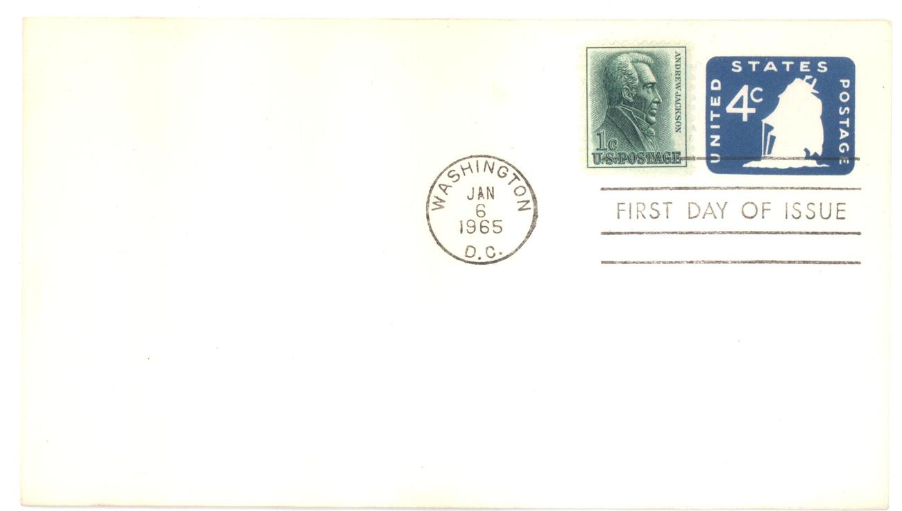 4 cents stamped envelope fdc
