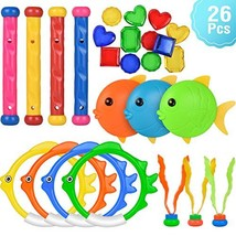 Kiztoys 8pcs Pool Toy , Summer Underwater Swimming Toys for Girls and Boys image 1