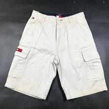 Vintage Tommy Hilfiger Jeans Tavola Chino Pantaloncini Giovani 14 Cachi Lungo - $15.01