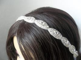 Gorgeous White Brides Headband, Halo Crown, Rhi... - $19.95