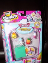 Shopkins Chef Club Limited Editon W/TEARY Onion Pack Of 5 Season 6 New - $16.60