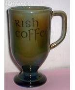 "WADE PORCELAIN FOOTED COFFEE CUP-- ""IRISH COFFEE"" - $14.95"