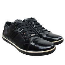 Kenneth Cole BOTH FEET DOWN Mens Size 11 Black Patent Leather Fashion Sn... - $18.80
