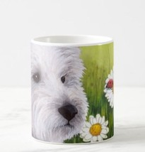 Coffee Mug Cup 11oz or 15oz Made in USA Dog 83 White Westie ladybug art ... - $19.99+