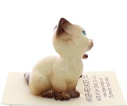Hagen-Renaker Miniature Cat Figurine Siamese Mama and Kitten Chocolate Point image 2