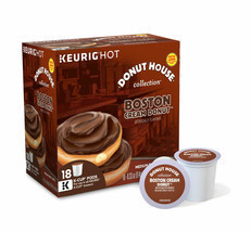 Donut House Boston Cream Donut Coffee 18 to 144 Count K cup Pick Any Qua... - $69.98