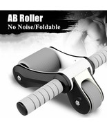 Fitness AB Roller With Mat No Noise Folding Double Wheel For Home Gym Ab... - $52.04