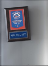 NEW YORK METS WORLD SERIES BANNER PLAQUE BASEBALL CHAMPIONS CHAMPS MLB NY - $3.95