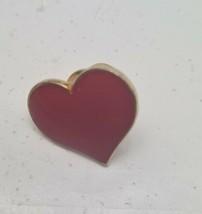 Hallmark Valentines Vintage HEART  Cloisonne RED GOLD Holiday Tie HAT Ta... - $6.62