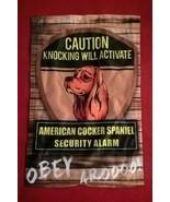 Knocking will activate American Cocker Spaniel Dog Yard Banner Garden Flag - $7.91
