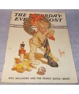 Saturday Evening Post Dec 24 1938 Christmas Leyendecker Cover Agatha Chr... - $24.95