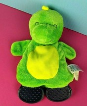"Child of Mine Carters Lovey Dino Green 10"" Stuffed Teether Dragon Baby #A23 - $13.85"