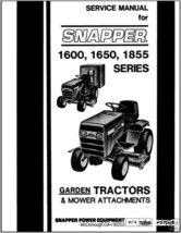 Snapper Tractor 1600,1650,1855 series Service Manual - $11.87