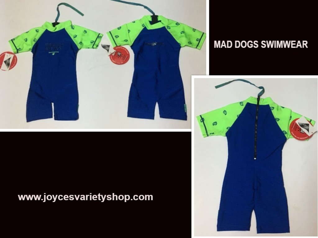 Mad dogs swimwear blue   drink web collage