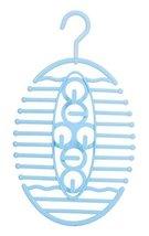 Creative Fishbone Hook Plastic Scarves Tie Organizer Holder Hanger Blue - $10.98