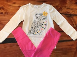 Gymboree Girls' Ivory L/S Sparkle Owl Tee w/ Pink Leggings NWT GYM26 - $24.99