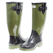 Women's Green & Black Rubber Rain Boots  - $30.00