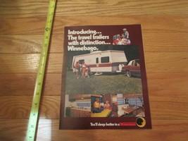 Winnebago Travel Trailers 1978 camping RV Vintage Dealer sales brochure - $14.99