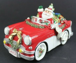 FITZ AND FLOYD Holiday Musical Merry & Bright Santa In Car Plays Here Co... - $724,63 MXN