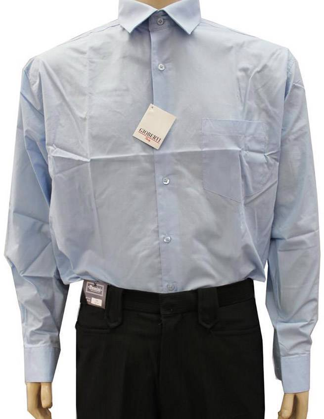 NEW NWT GIOBERTI MEN'S CLASSIC LONG SLEEVE BUTTON UP CASUAL DRESS SHIRT SKY BLUE