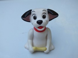 Vintage Disney 101 Dalmatians Puppy Dog Red Collar With Bone 2 Inch Figu... - $6.92