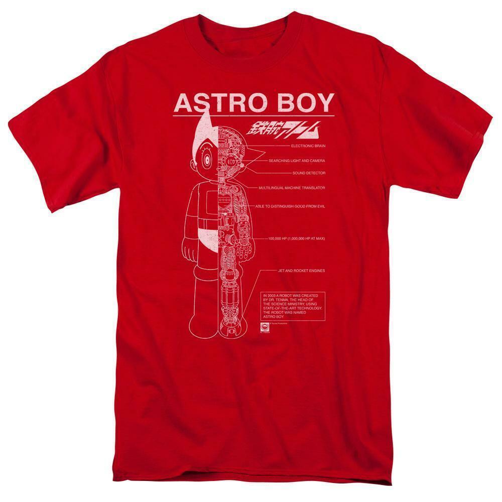 Astro Boy t-shirt Mechanical design Retro 80's TV cartoon graphic tee ABOY104