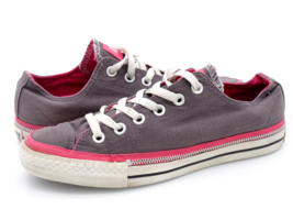 Converse Womens 8 Gray All Star 532450F Low Top Lace Up Athletic Sneaker... - $26.99