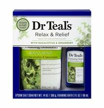 Dr Teal's Relax & Relief Eucalyptus Spearmint Epsom Salt & Foaming Bath ... - $17.82