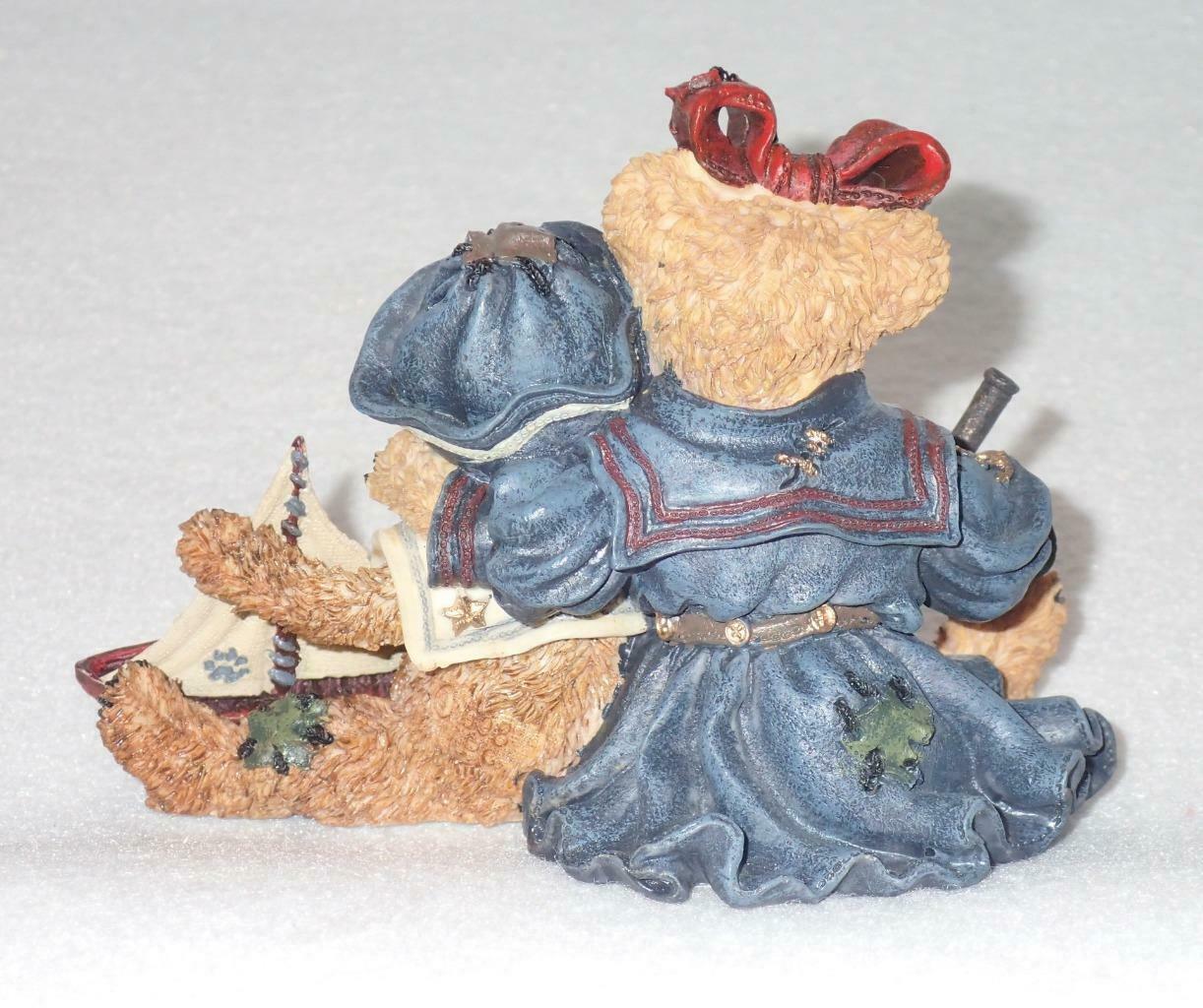 Boyd Bearstone Resin Bears 1998 Elvira and Chauncey Fitzbruin Shipmate Figurine image 2