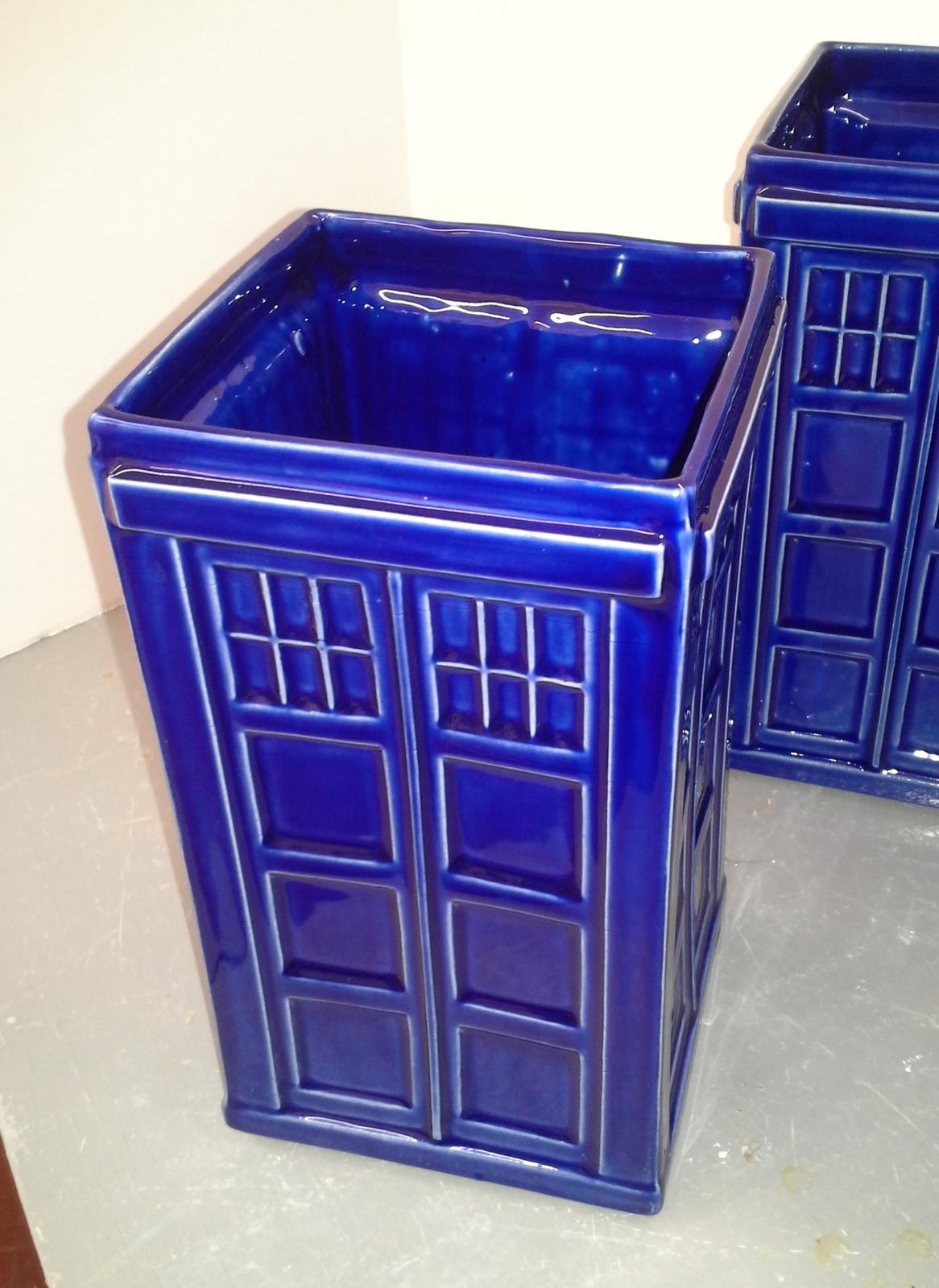 Handmade London Metropolitan Police Box Vase