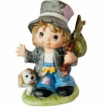 Homco Home Interior porcelain figurine sculpture gift vtg hobo Bindle st... - $24.70