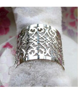 50pieces Laser cut Metallic Paper Silver Color Wedding Decoration Napkin Ring - $17.00