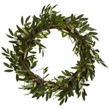 Nearly Natural 4773 Olive Wreath, 20-Inch, Green (Green) - $74.42